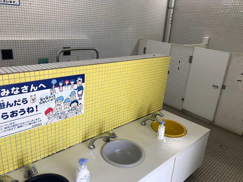 小さな子供も届く手洗い場