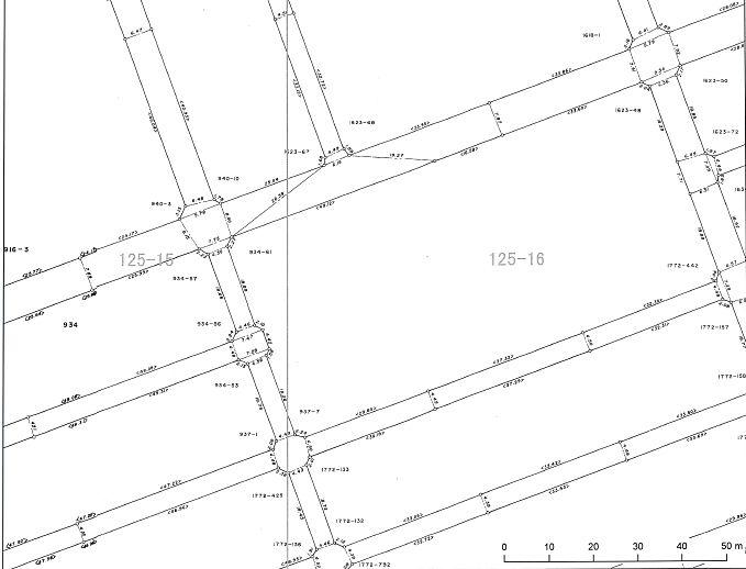 道路台帳区域線図