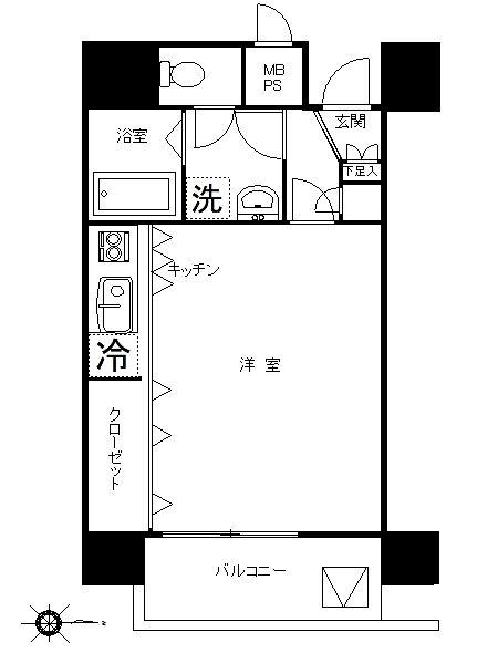 広めのワンルームマンション