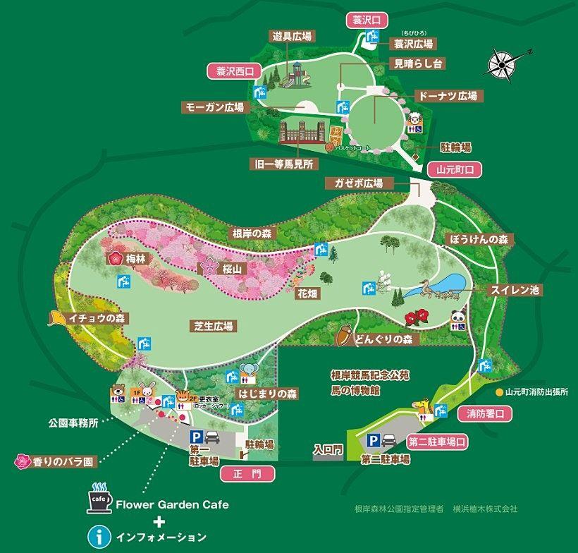 根岸森林公園内マップ