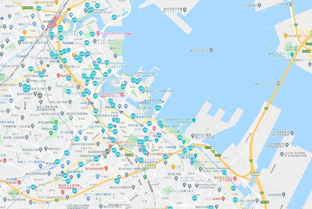 横浜のレンタルサイクル
